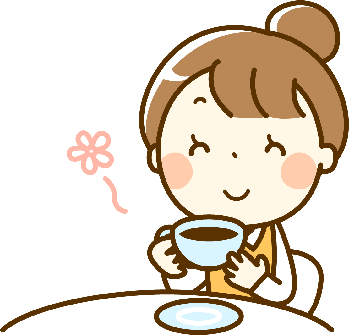 コーヒーを飲む イラスト